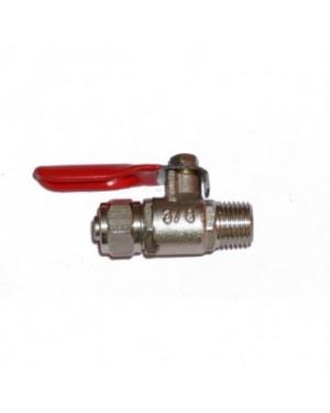1/4 MIP X 3/8 Od Metal Ball Valve - Kran Besi Merah 3/8 (SEWBV1438)